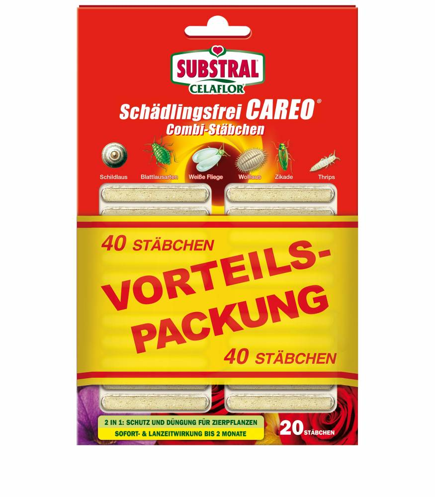 Careo Combi-Stäbchen Schädlingsfrei (Stückzahl: 20 Stück)