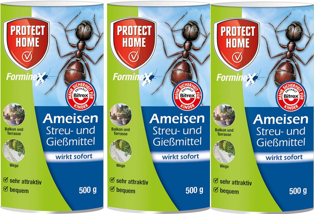 Protect Home Forminex Ameisen Streu- und Giessmittel N 3x500 gr