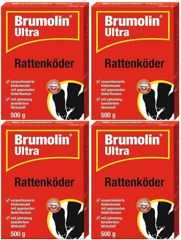 Rattengift Brumolin Ultra Rattenköder 4x500 gr SPARPACK
