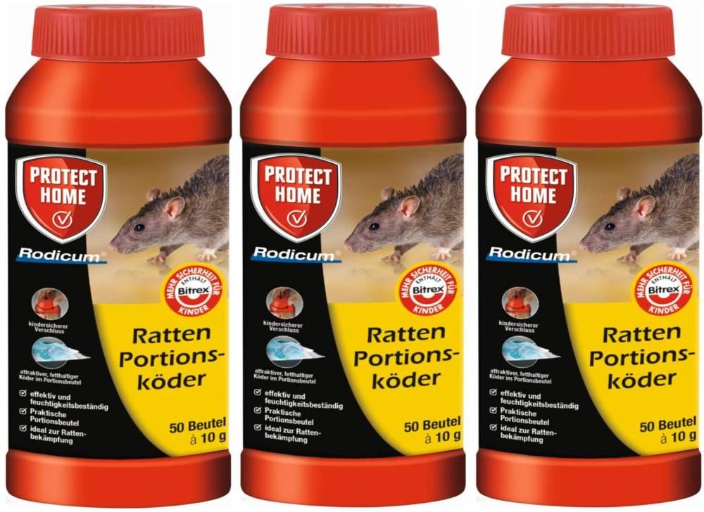 Rattengift Rodicum Ratten Portionsköder 3x500 gr- SPARPACK