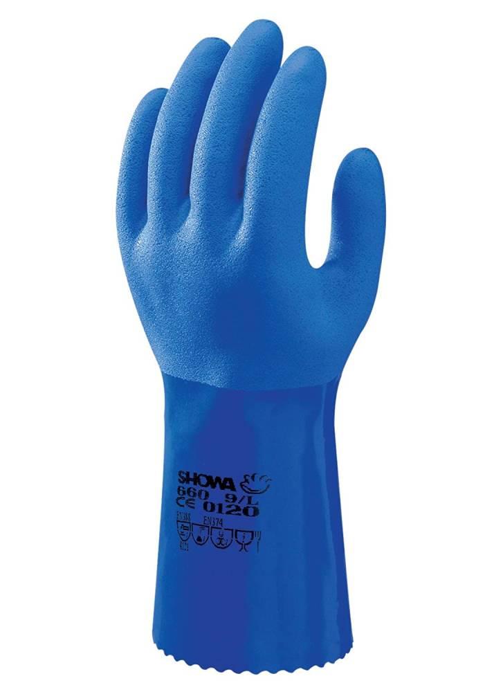 Showa 660 PVC-Chemikalien-Pflanzenschutz-Schutzhandschuh (Grösse: L)