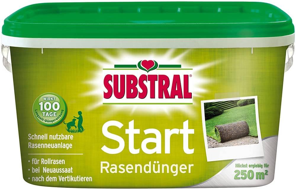 SUBSTRAL(R) Start Rasendünger mit 100 Tage Langzeitwirkung- 250m- 5 kg